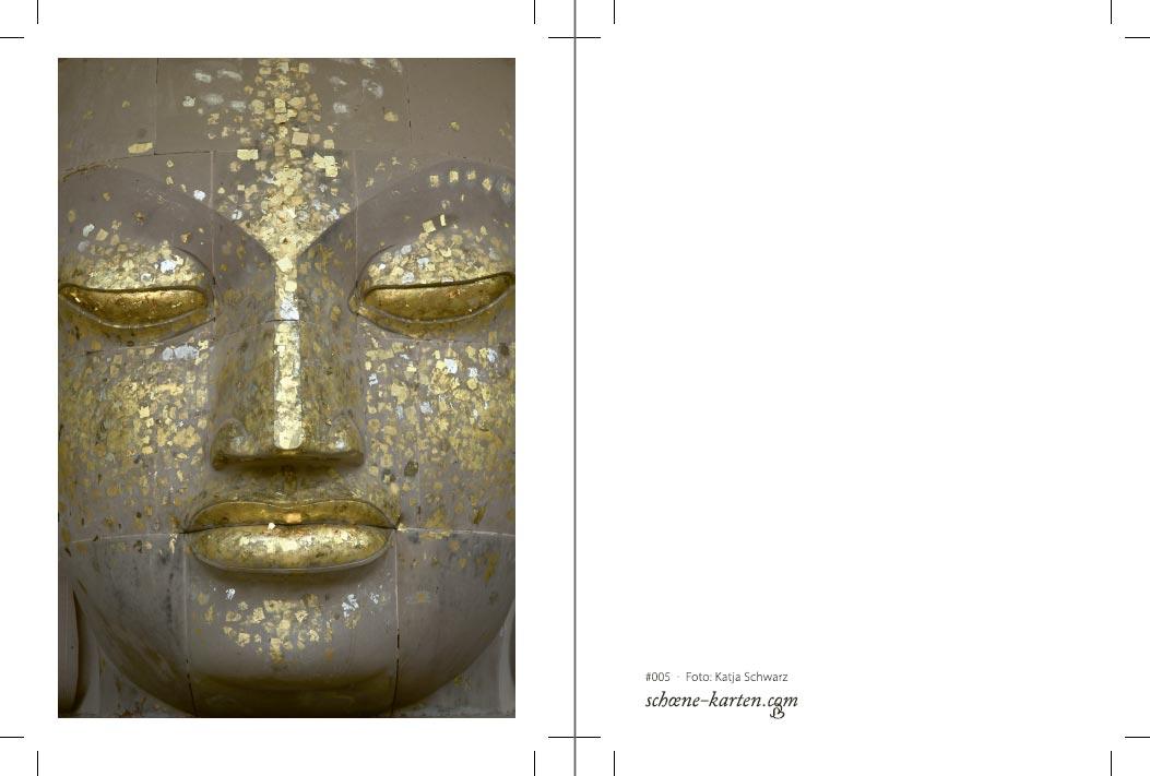 Fotopostkarte Buddha Druckvorschau