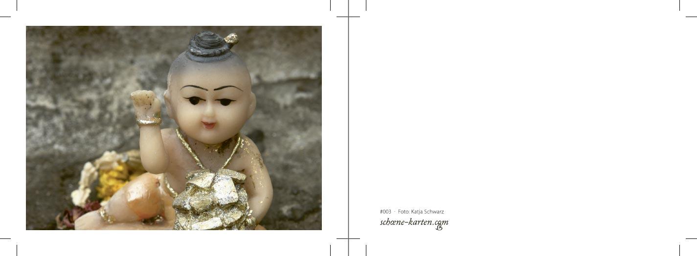 Fotopostkarte Kitsch Buddha Druckansicht