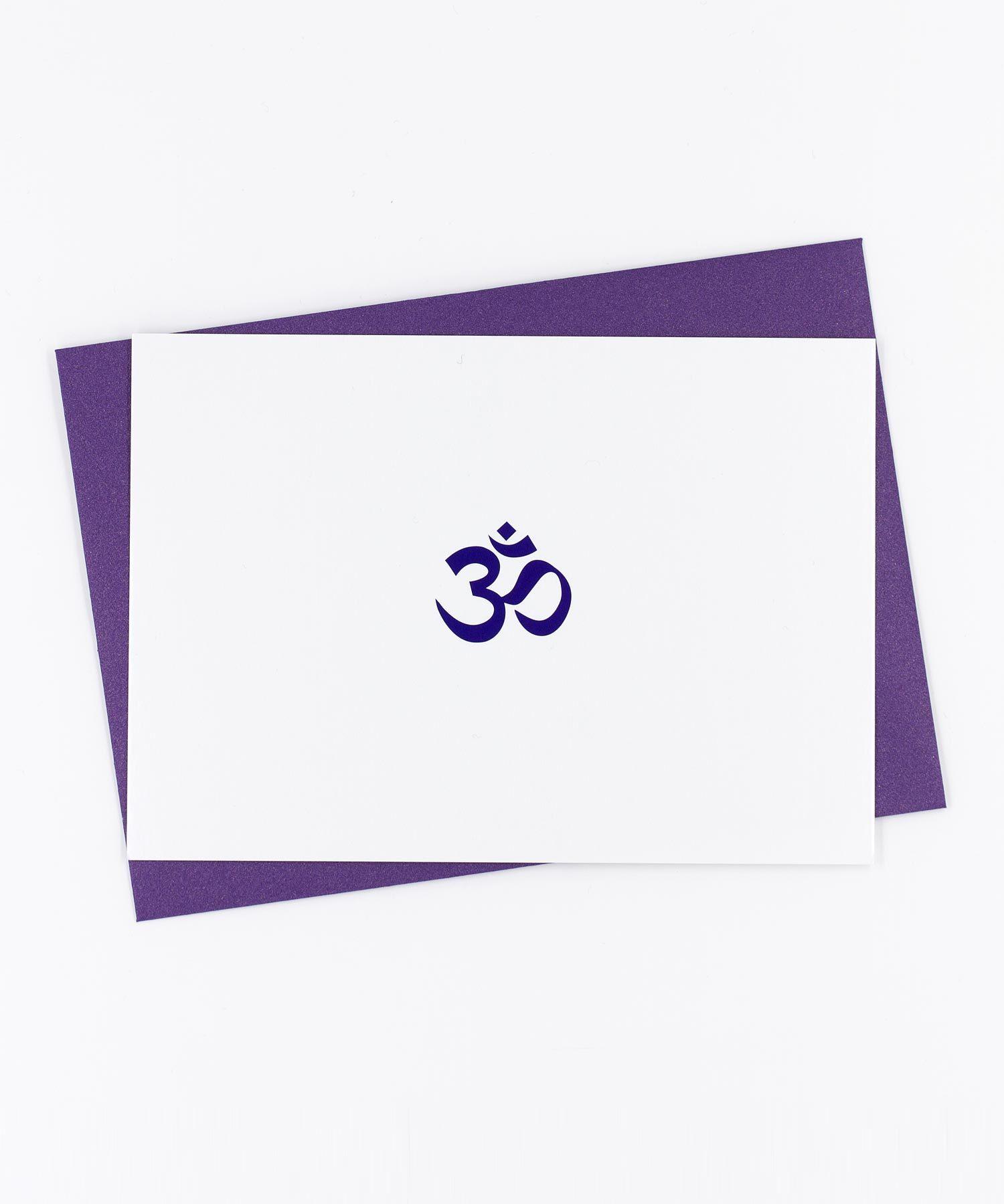 Yoga Postkarte OM