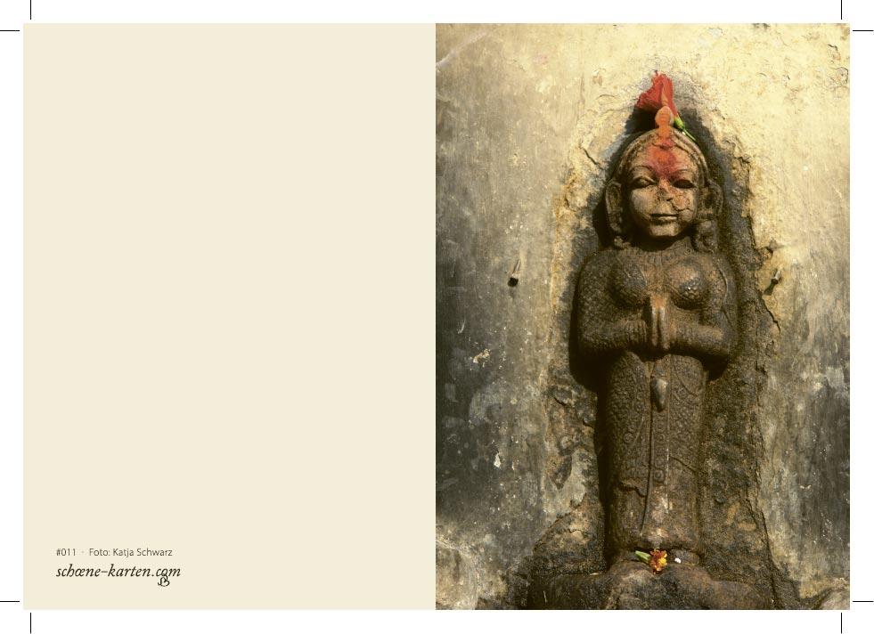 Grußkarte Steinfrau