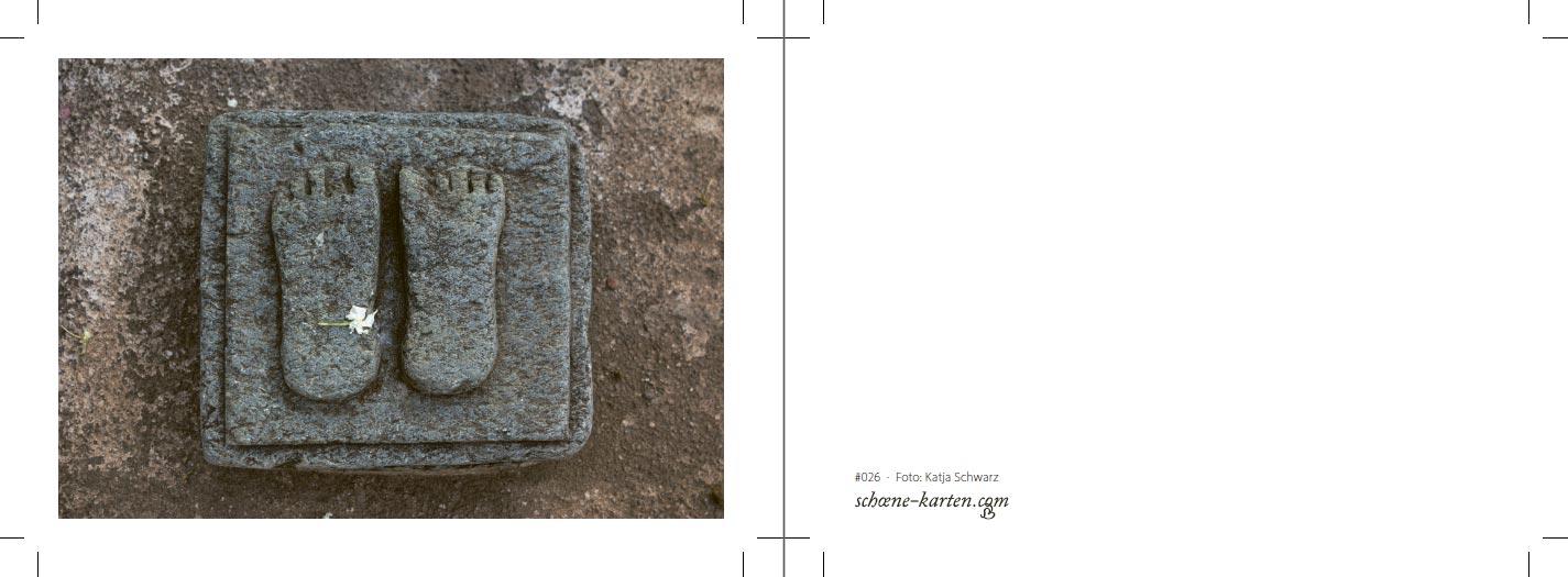 Fotopostkarte Footprint