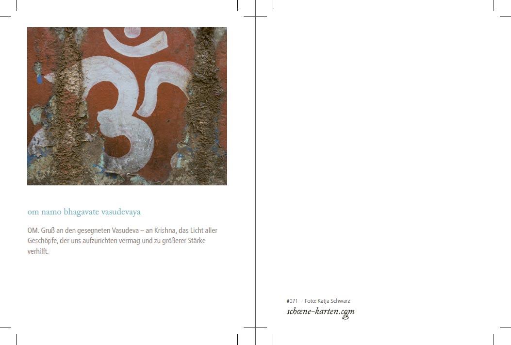 Mantra Postkarte Om Namo Bhagavate
