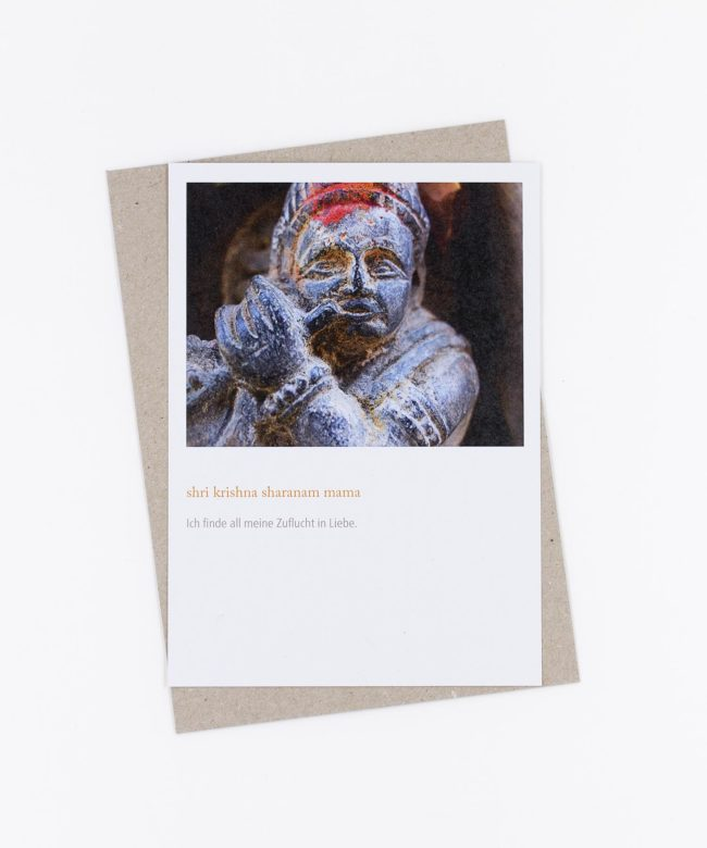 Mantra Postkarte Shri Krishna Sharanam Mama