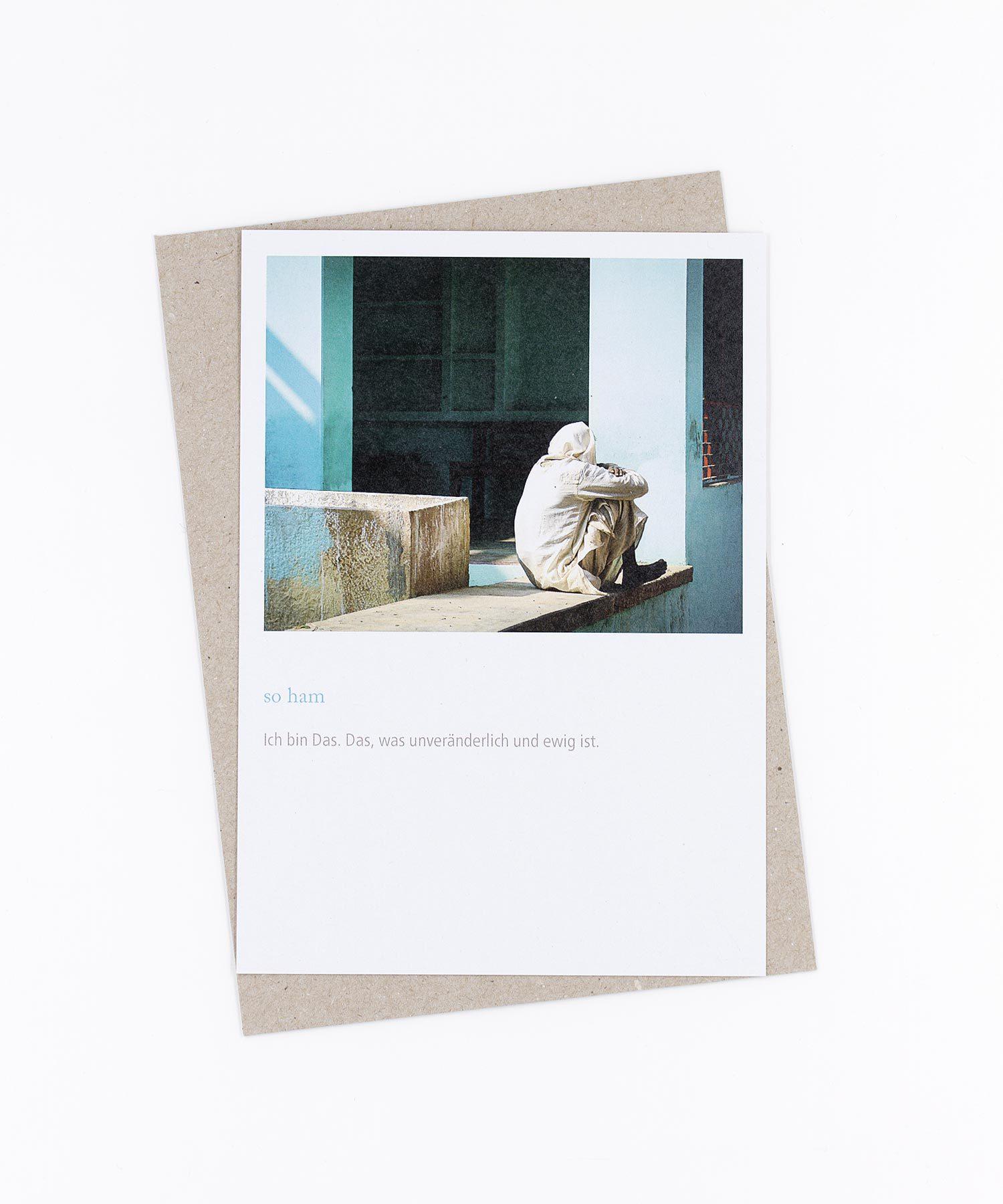 Mantra Postkarte So Ham