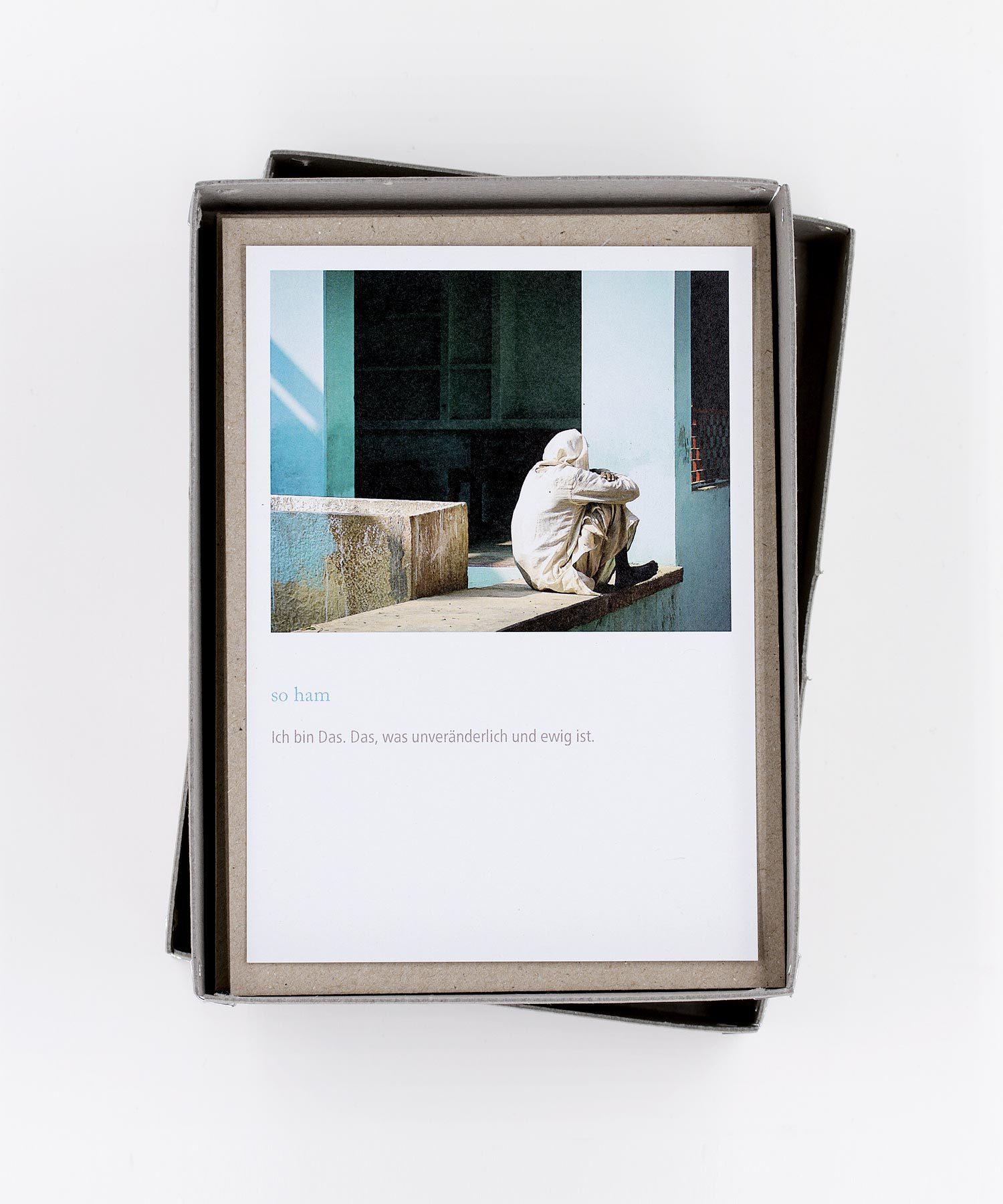 Yoga Mantra Postkarten Box