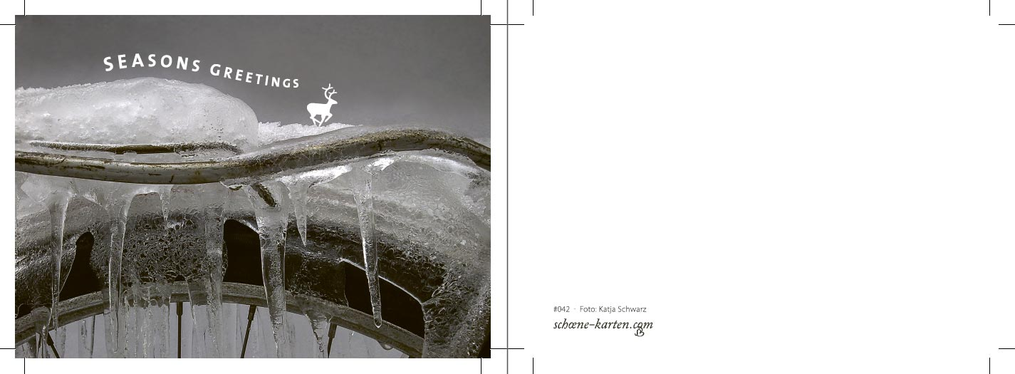 Postkarte Seasons Greetings · Hirsch