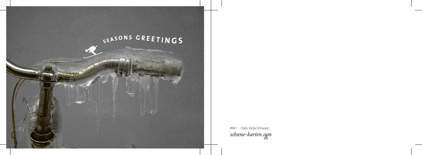 Postkarte Seasons Greetings · Ski