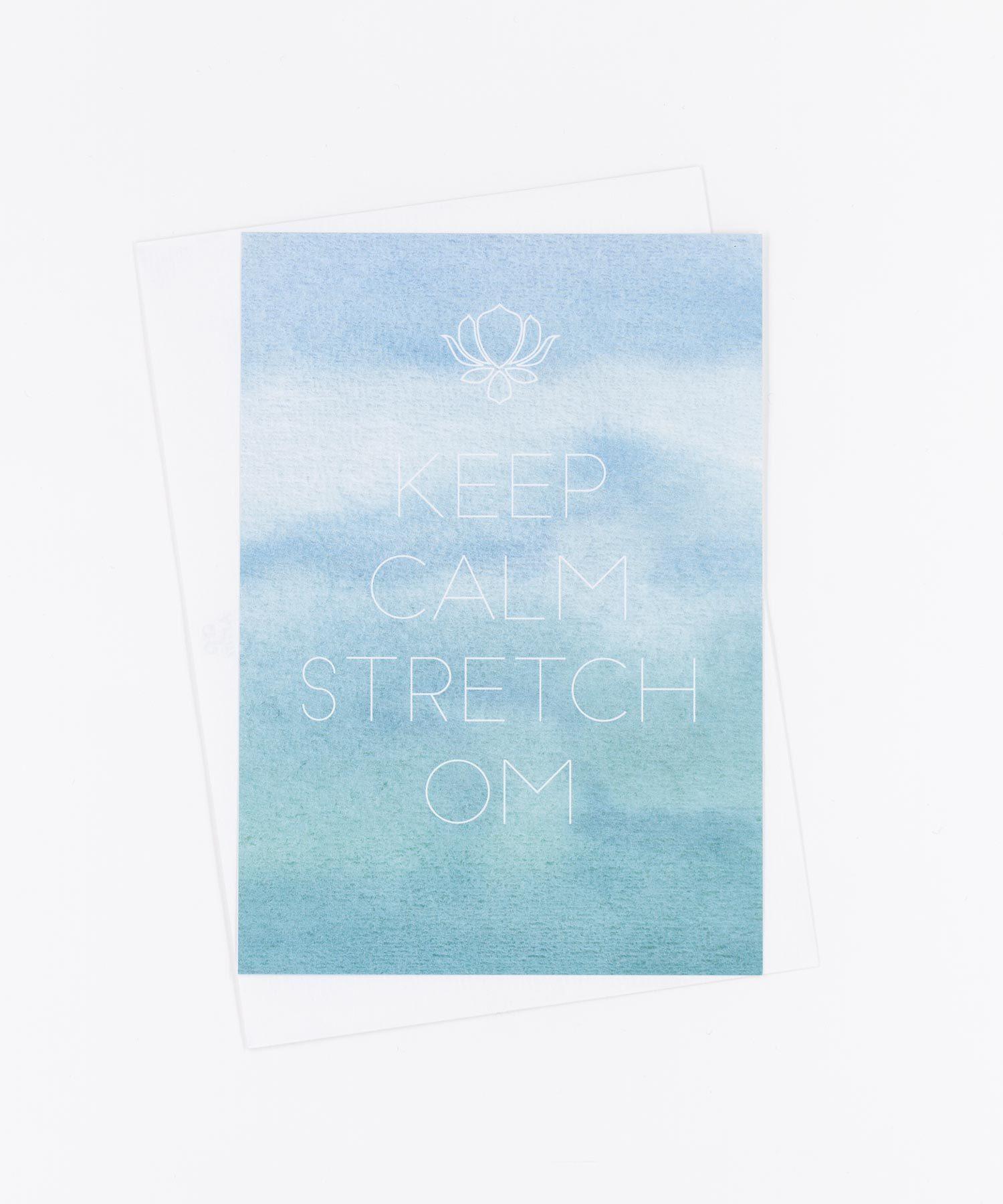 Yoga Postkarte Stretch OM