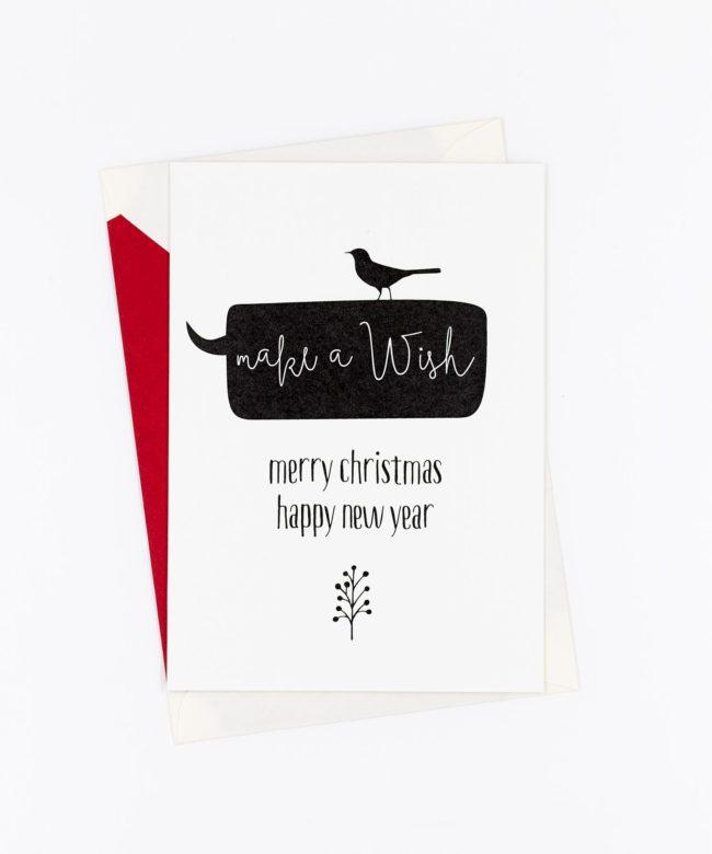 Weihnachtskarte Make a Wish
