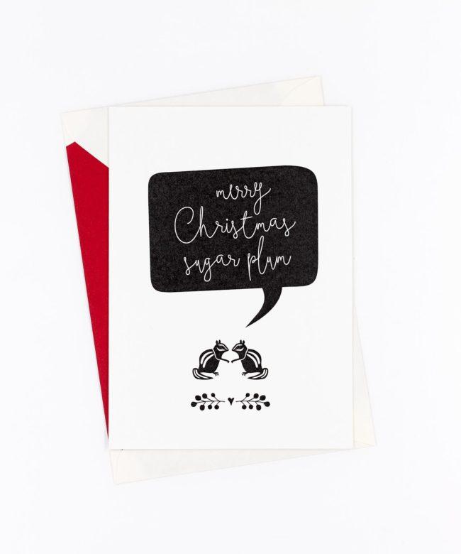 Weihnachtskarte Sugar Plum