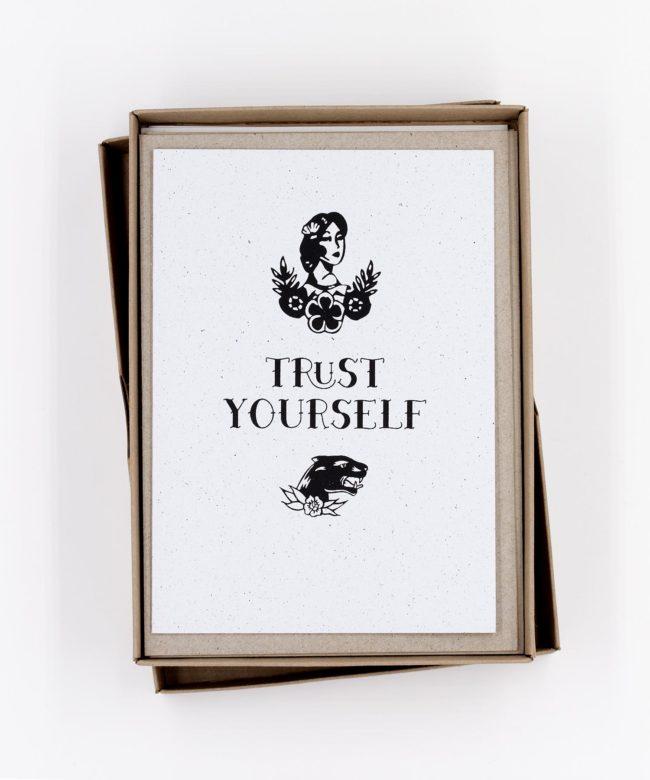 Siebdruck Tattoo Grußkarten Box