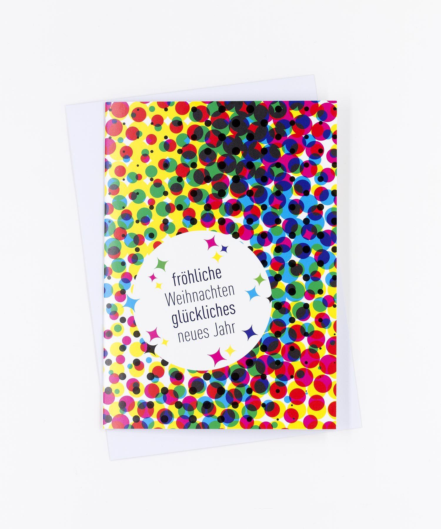 Weihnachtskarte Christmas Dots