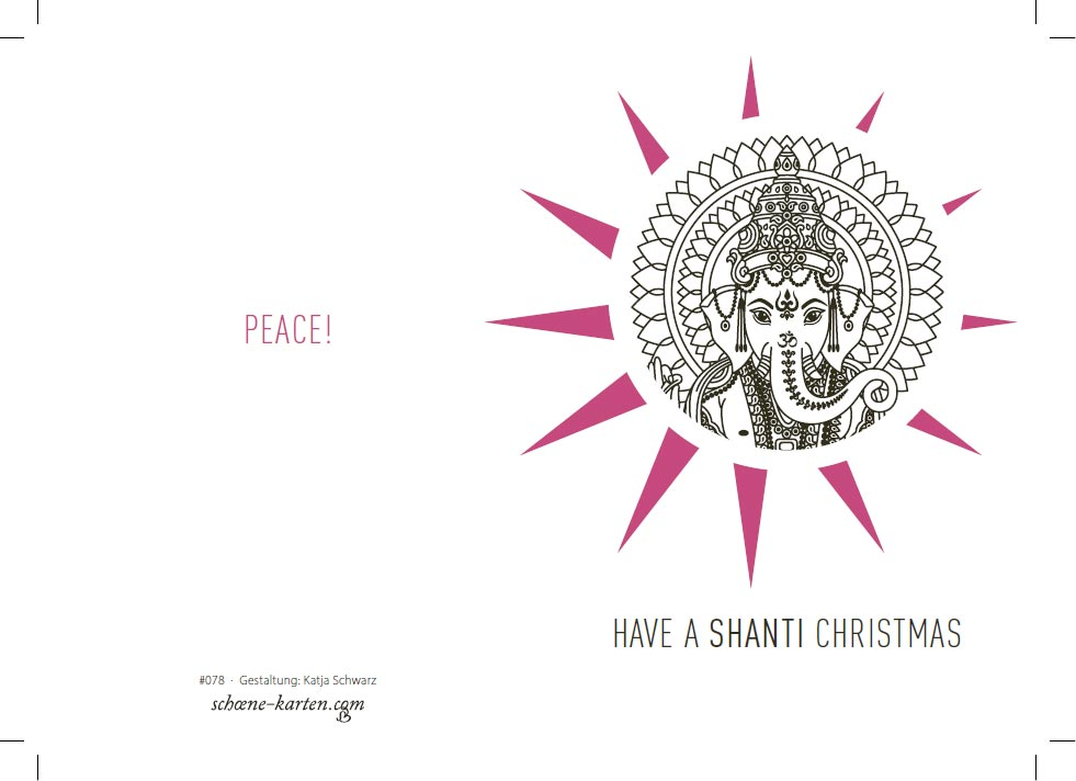 Weihnachtskarte Peace · Ganesha