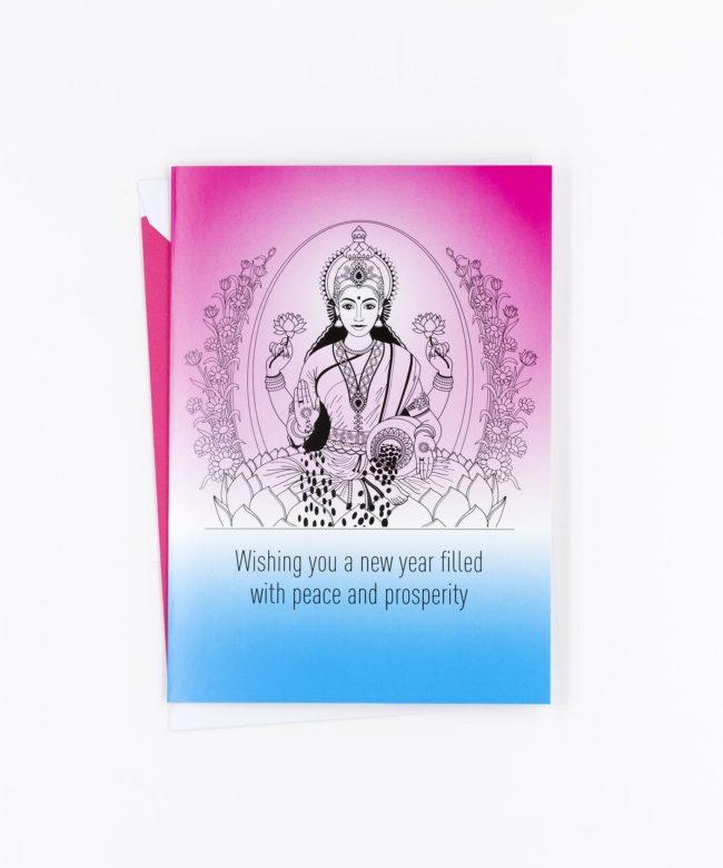 Weihnachtskarte Prosperity · Lakshmi