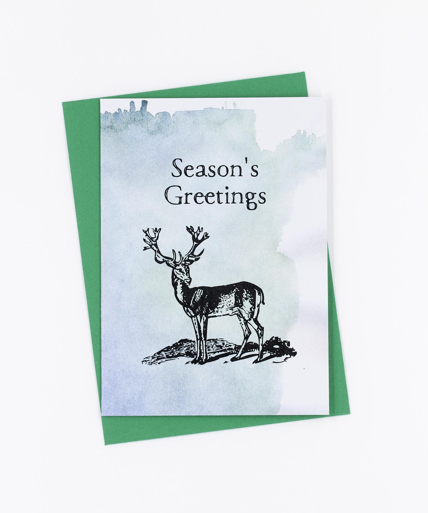 Weihnachtskarte Season's Greetings