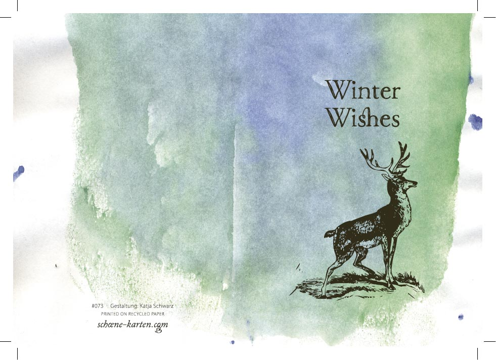 Weihnachtskarte Winter Wishes