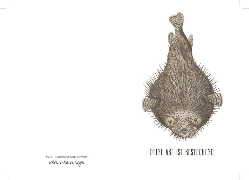 Grußkarte Kugelfisch