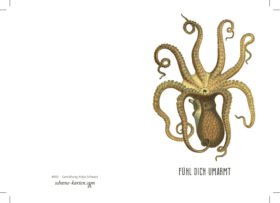 Grußkarte Oktopus