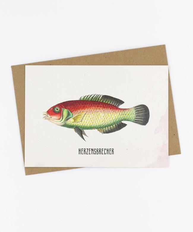 Postkarte Fishlove · Herzensbrecher