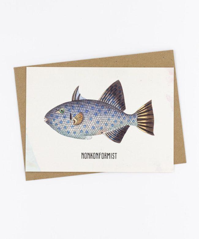 Postkarte Fishlove · Nonkonformist