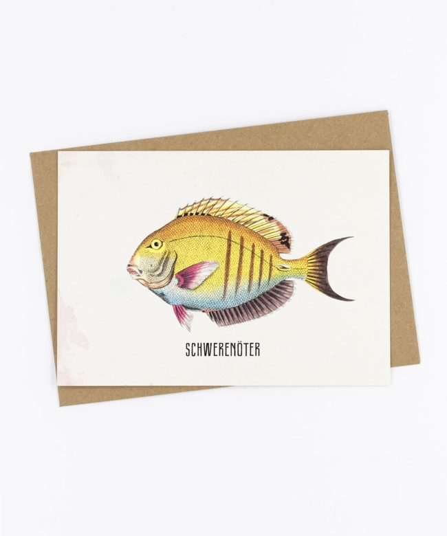 Postkarte Fishlove · Schwerenöter
