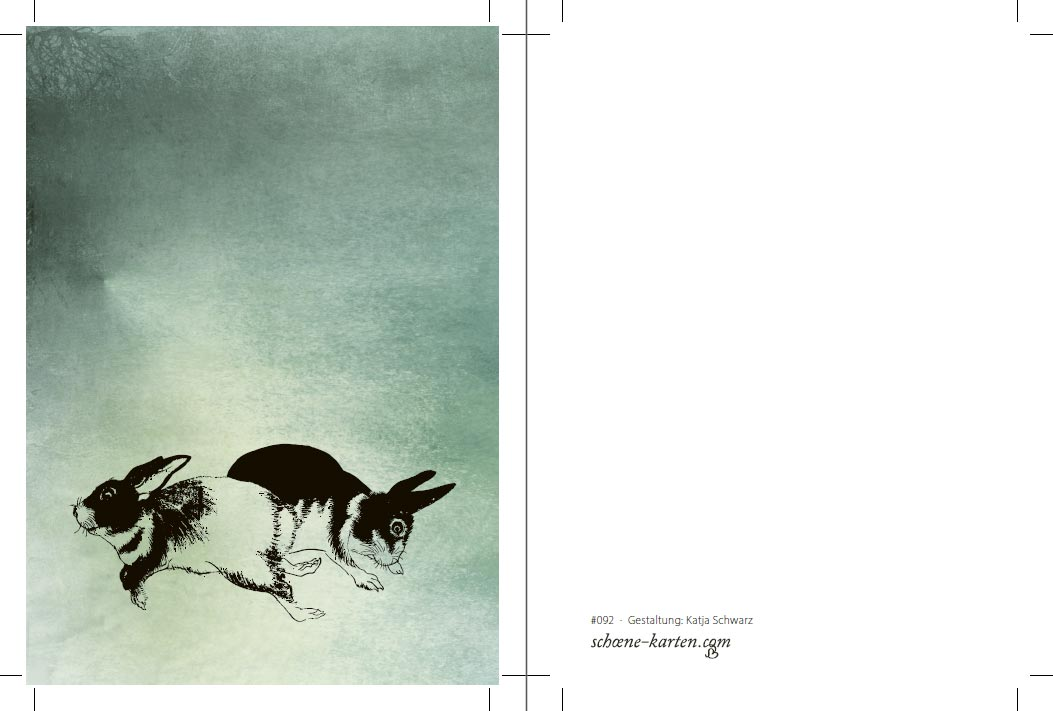 Postkarte Hasen
