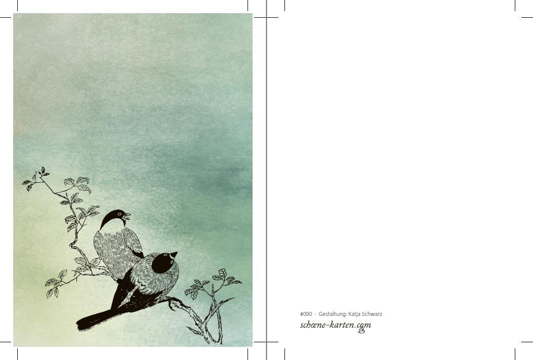 Postkarte Lovebirds