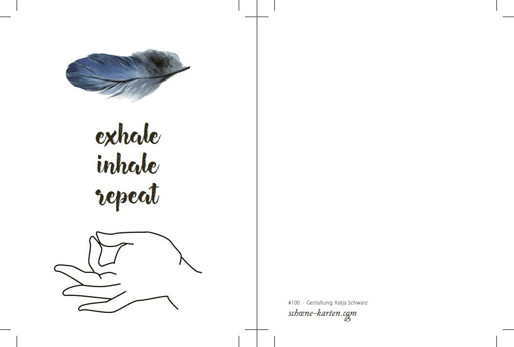 Yoga Postkarte Exhale