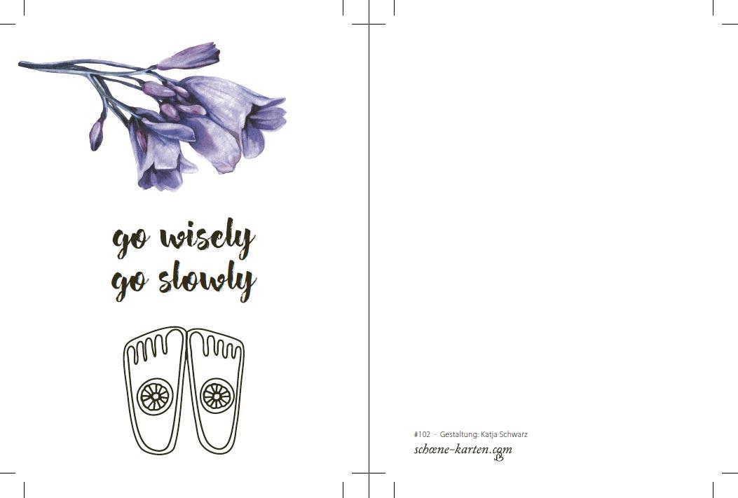 Yoga Postkarte Go Wisely