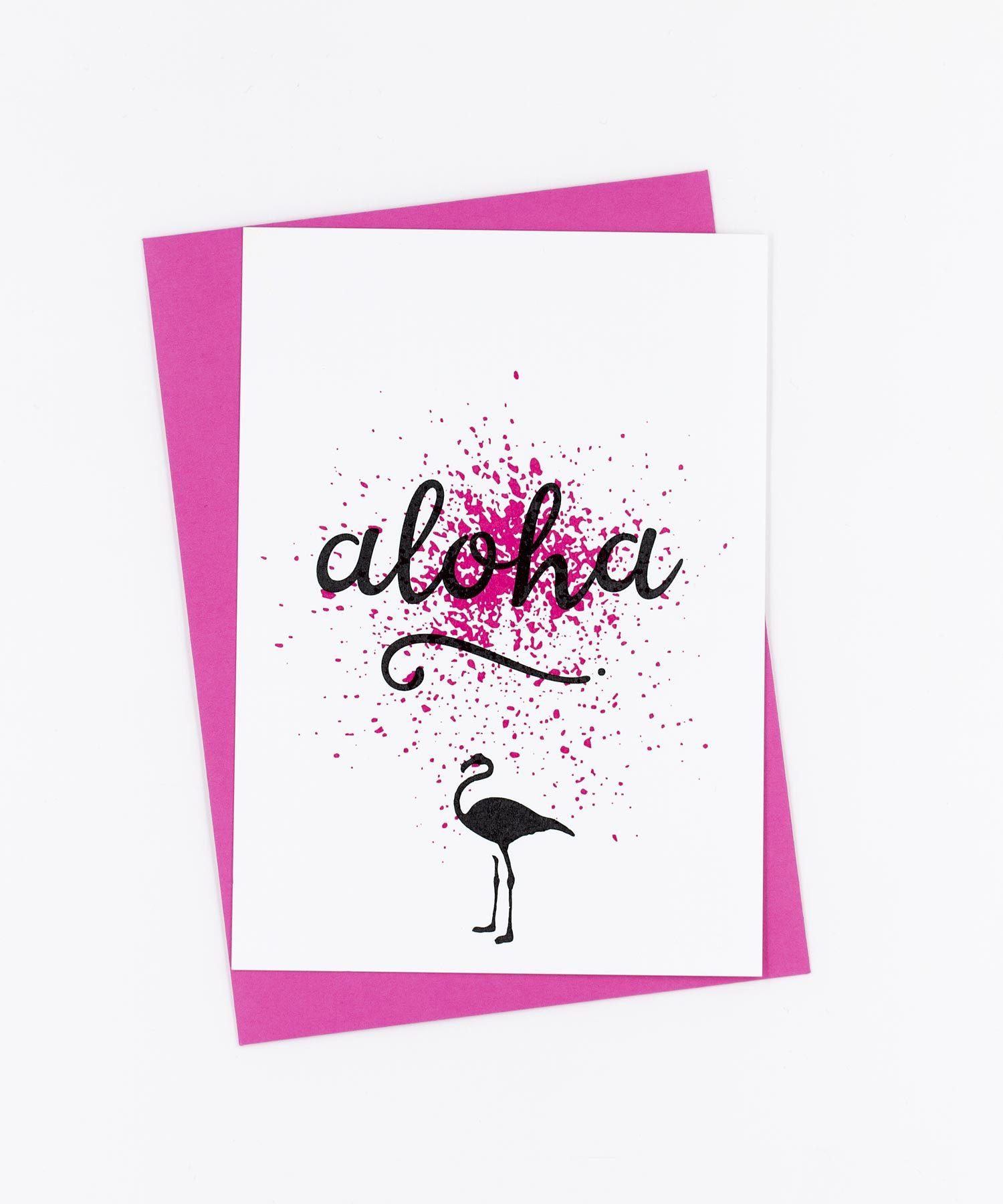 Postkarte Birds · Aloha