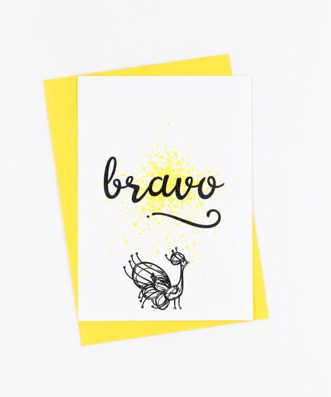 Postkarte Birds · Bravo