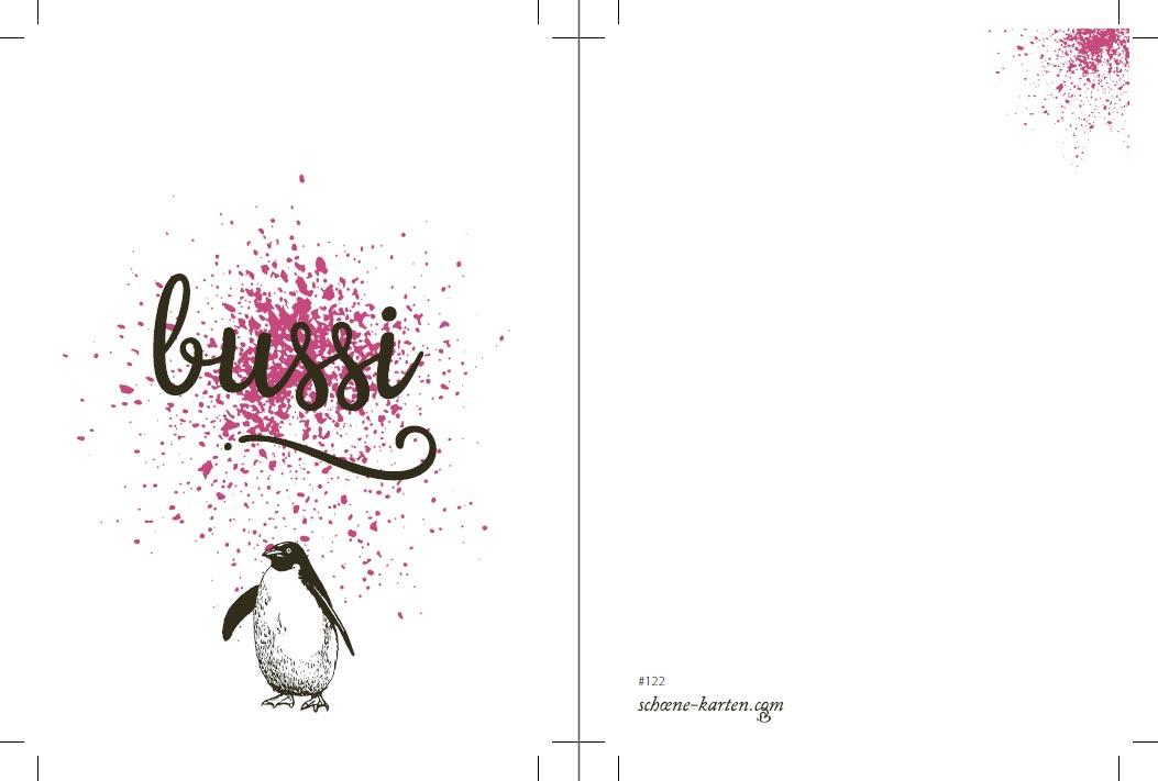 Postkarte Birds · Bussi