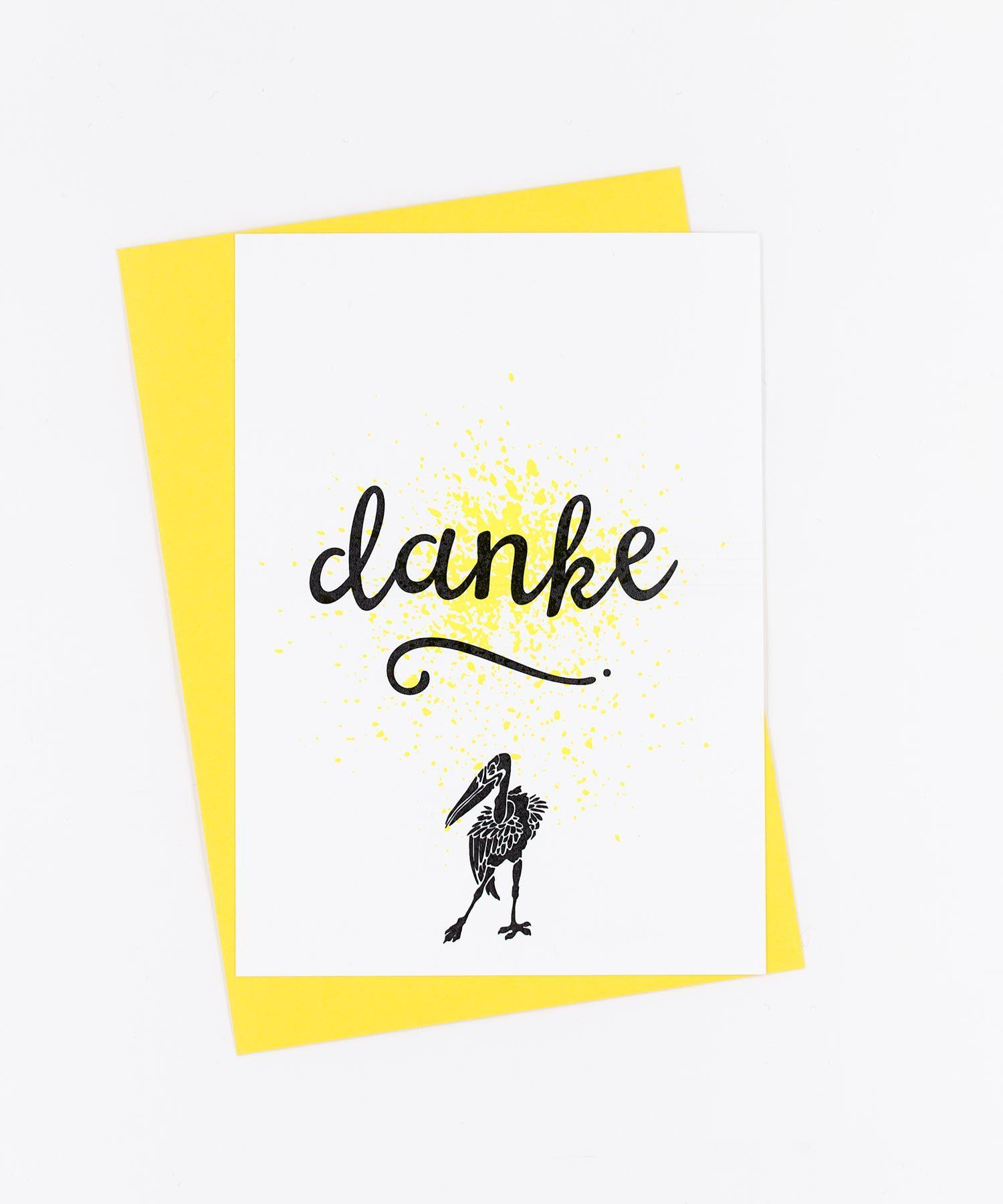 Postkarte Birds · Danke