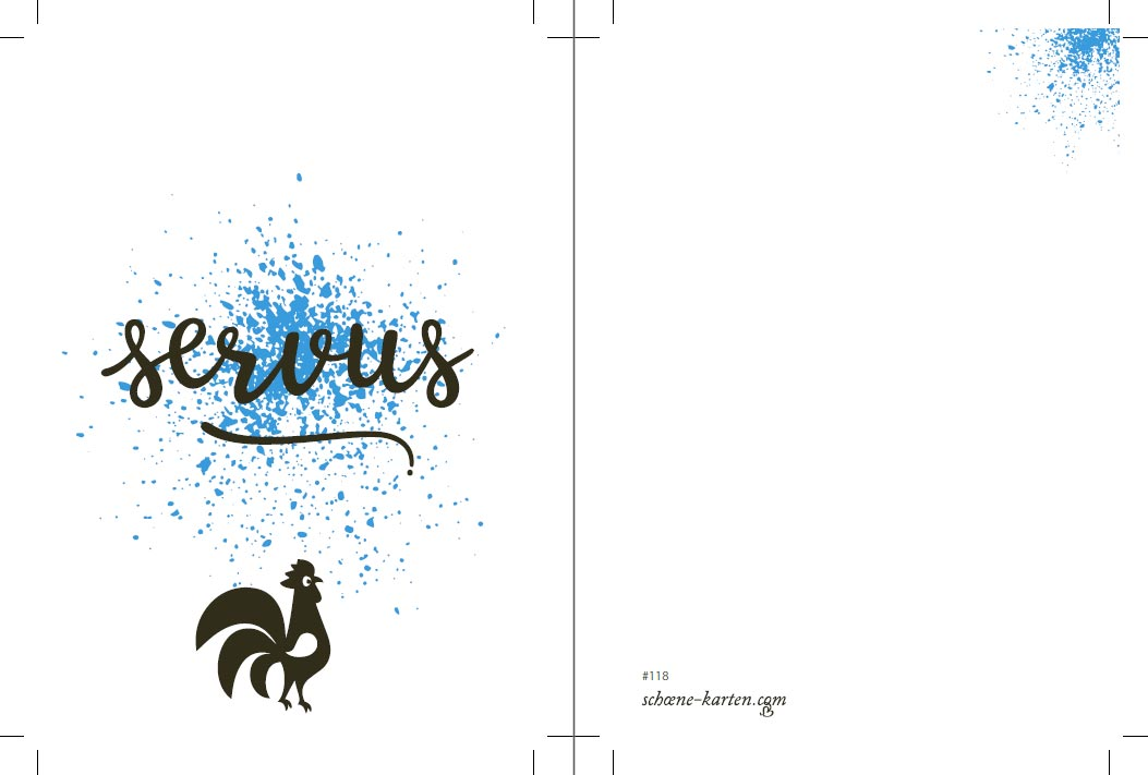 Postkarte Birds · Servus