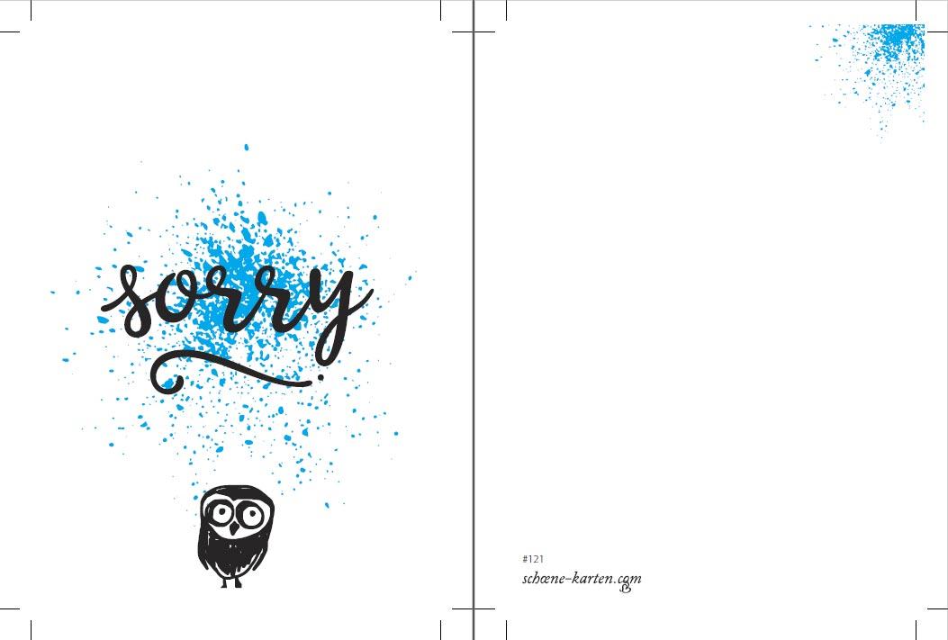 Postkarte Birds · Sorry