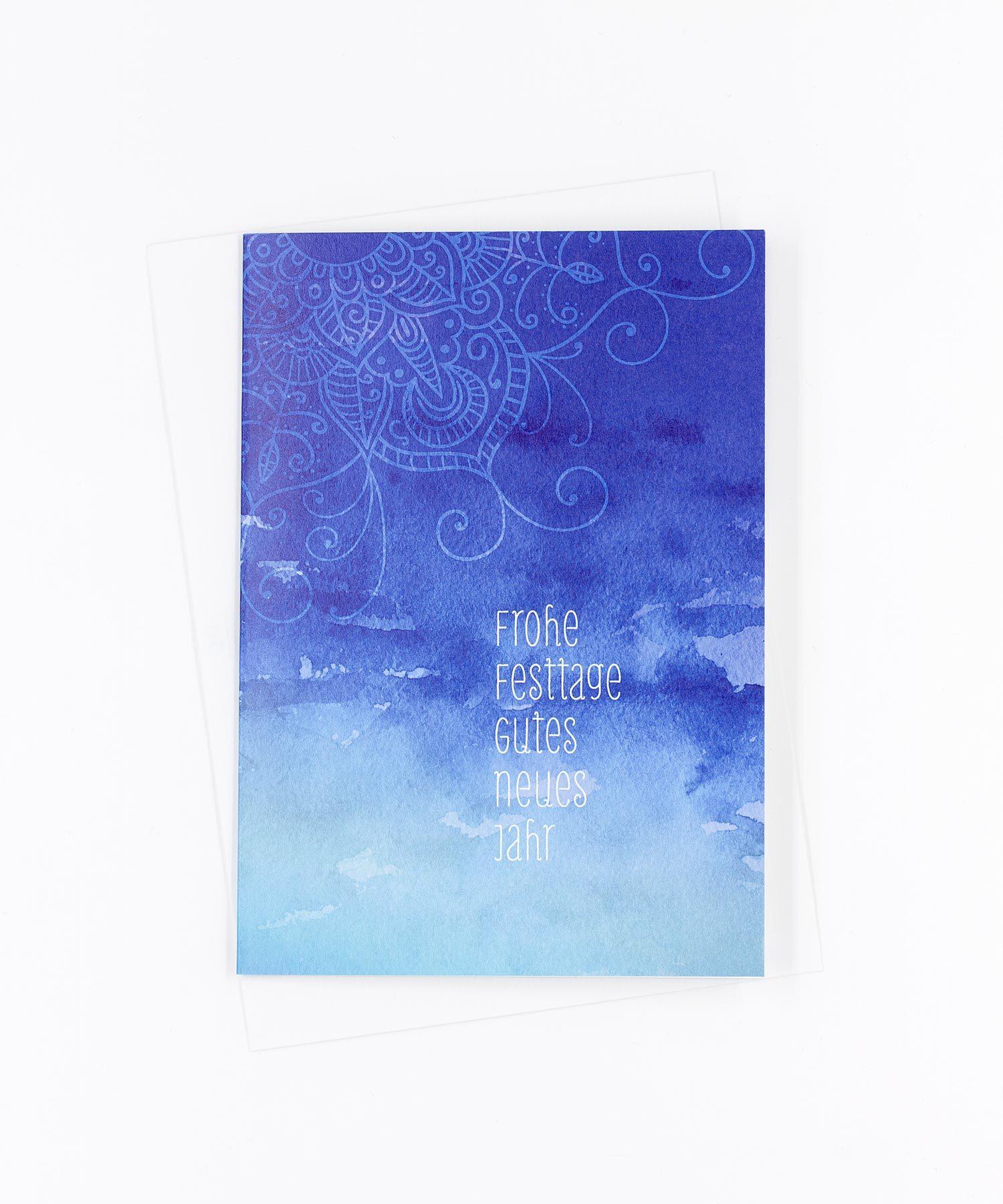 Weihnachtskarte Mandala