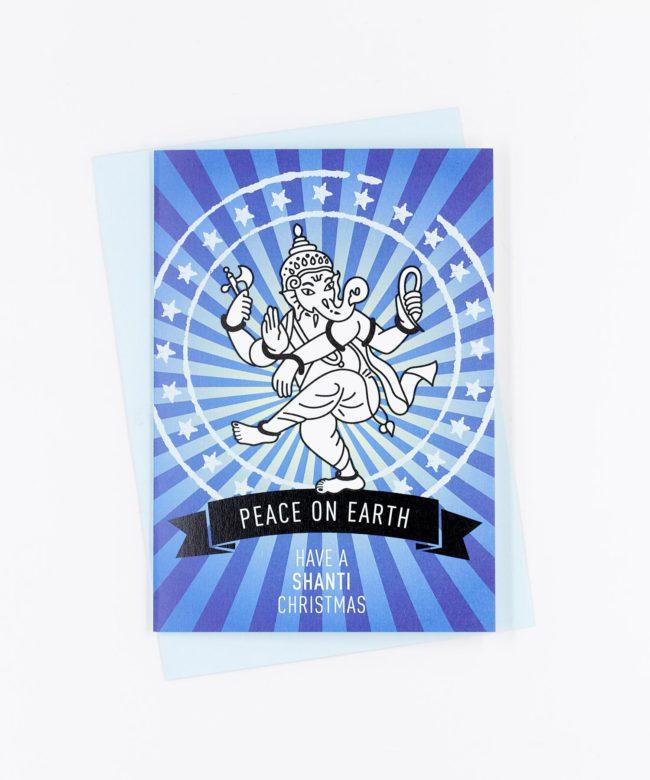 Weihnachtskarte Peace On Earth · blau