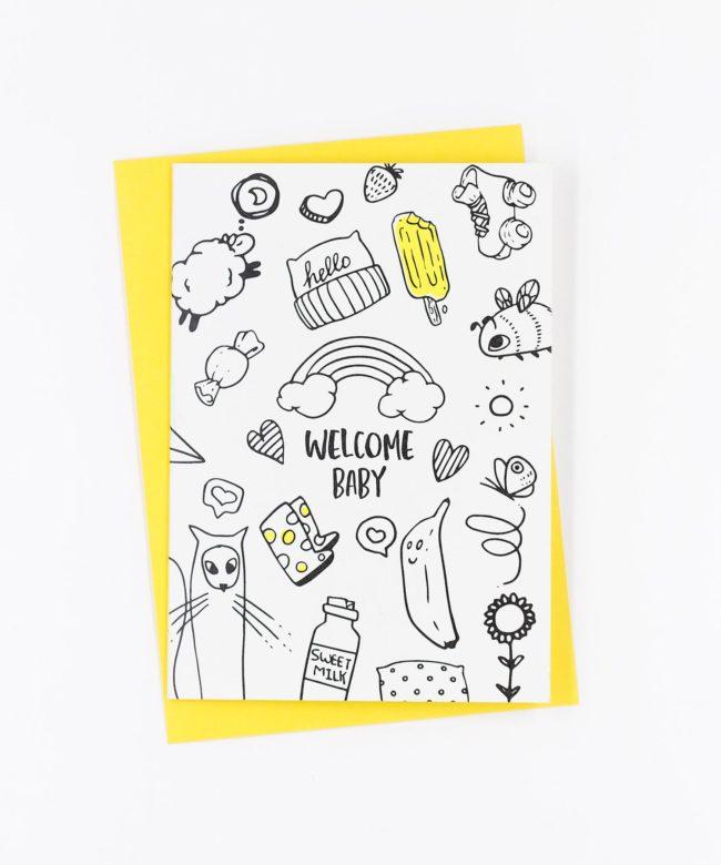 Geburtskarte Welcome Baby