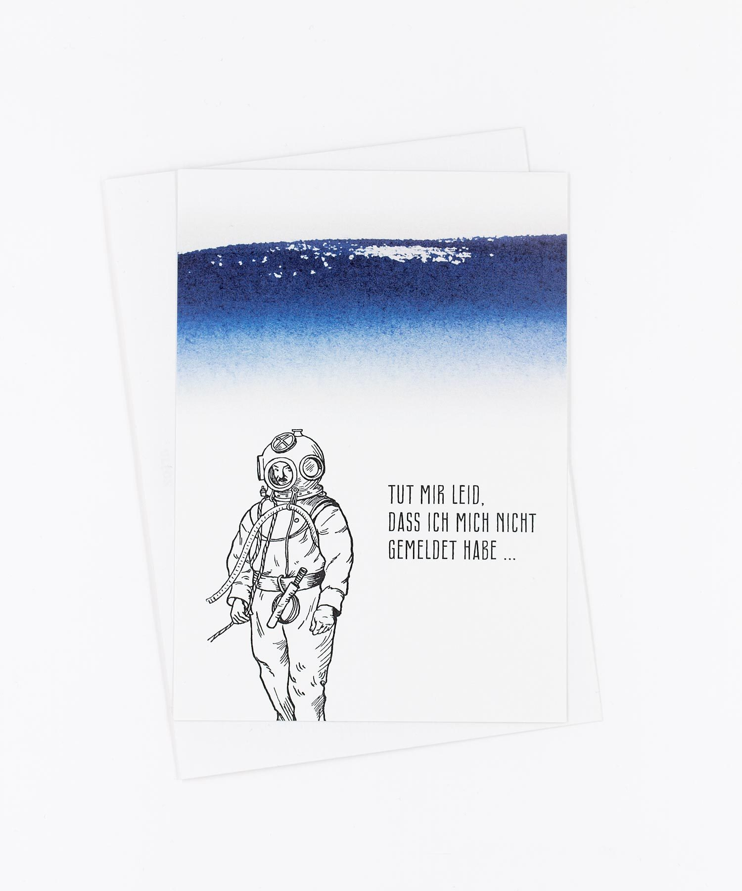 Postkarte Abgetaucht
