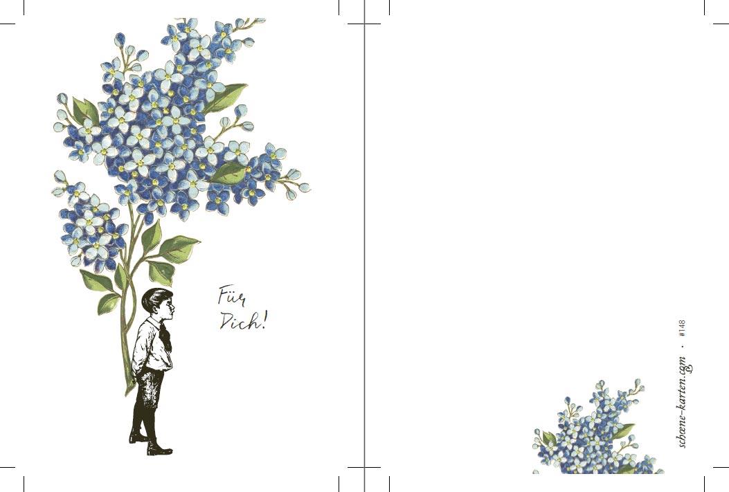 Postkarte Für Dich · Flieder
