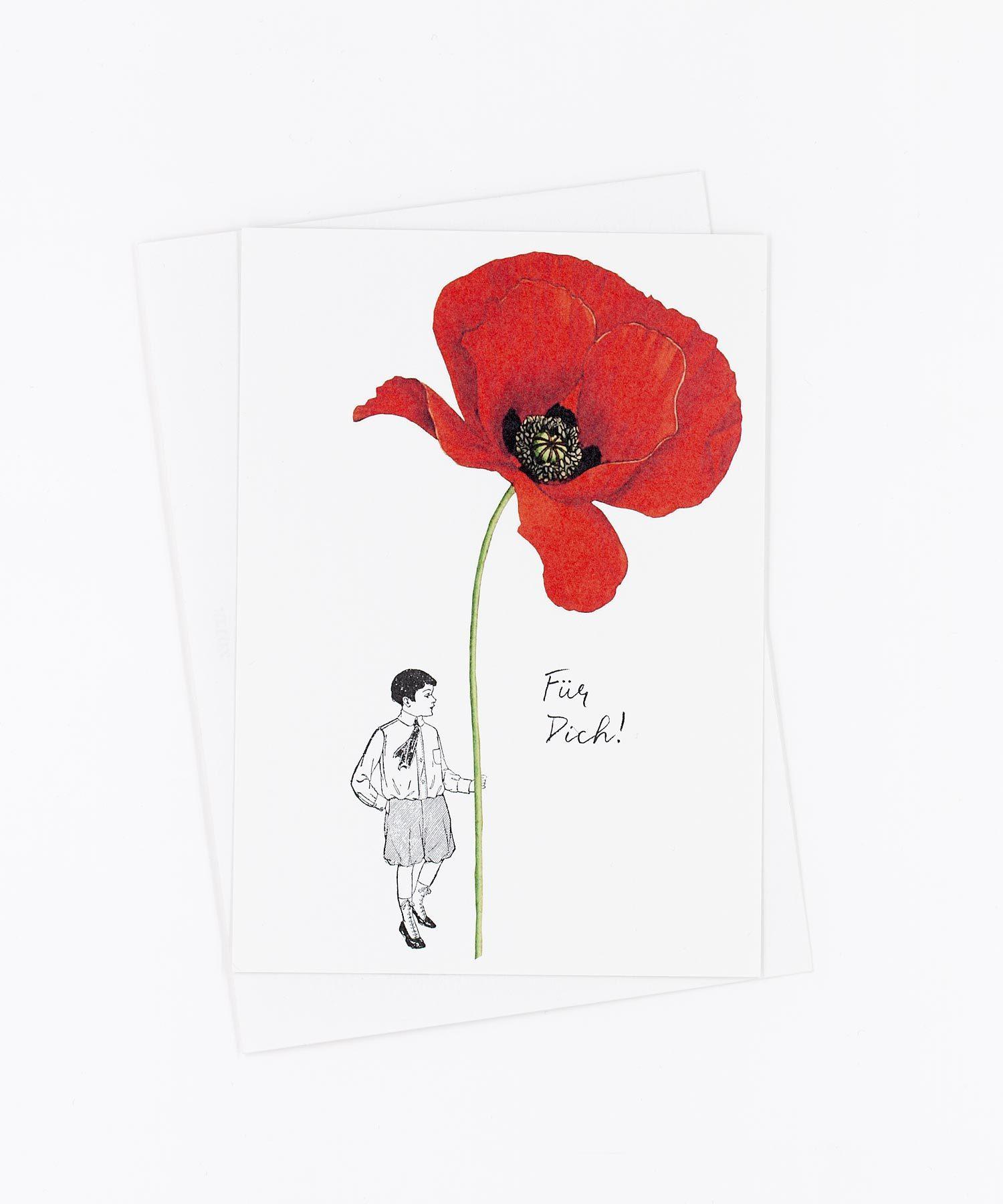 Postkarte Für Dich · Mohnblume