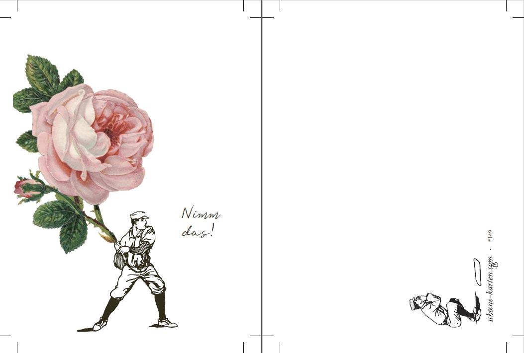 Postkarte Für Dich · Rose