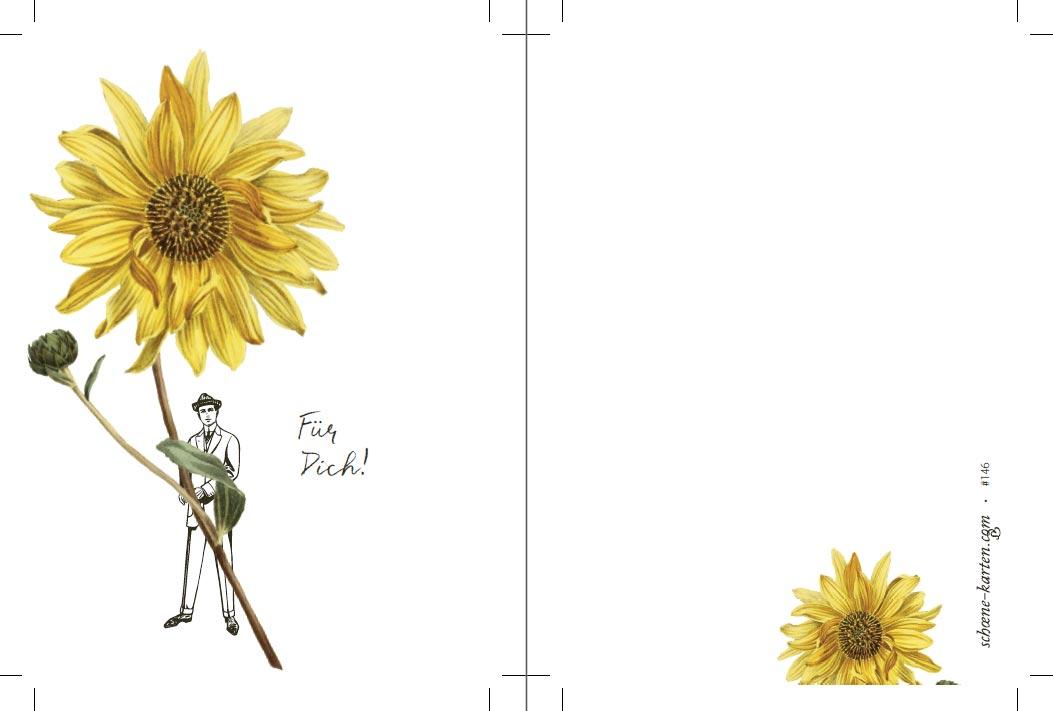 Postkarte Für Dich · Sonnenblume
