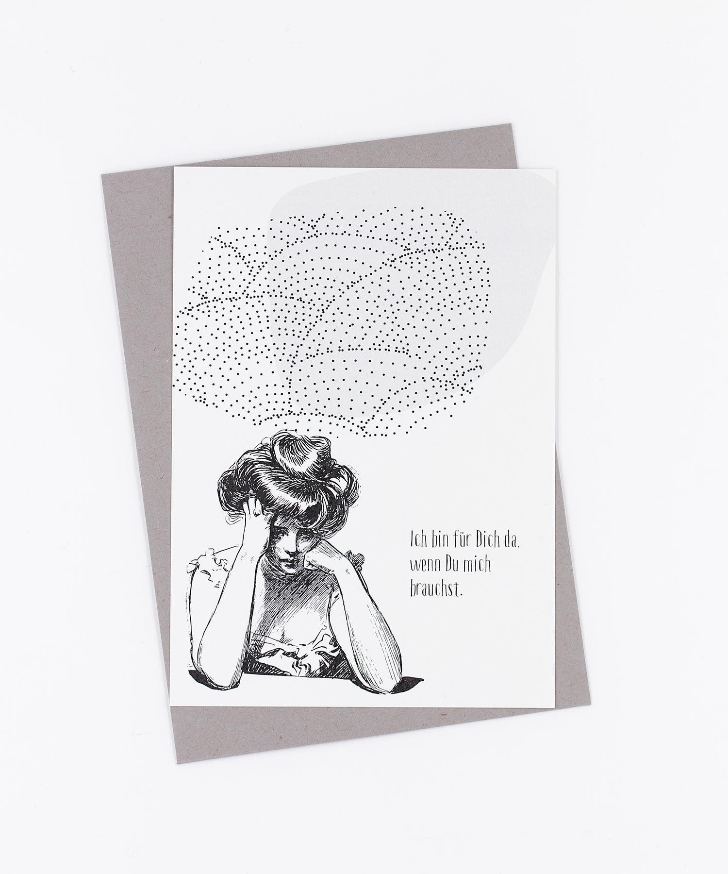 Postkarte »Ich bin für Dich da«