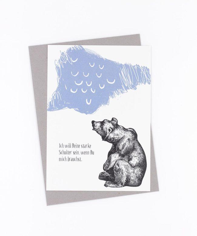Postkarte »Ich will Deine starke Schulter sein«