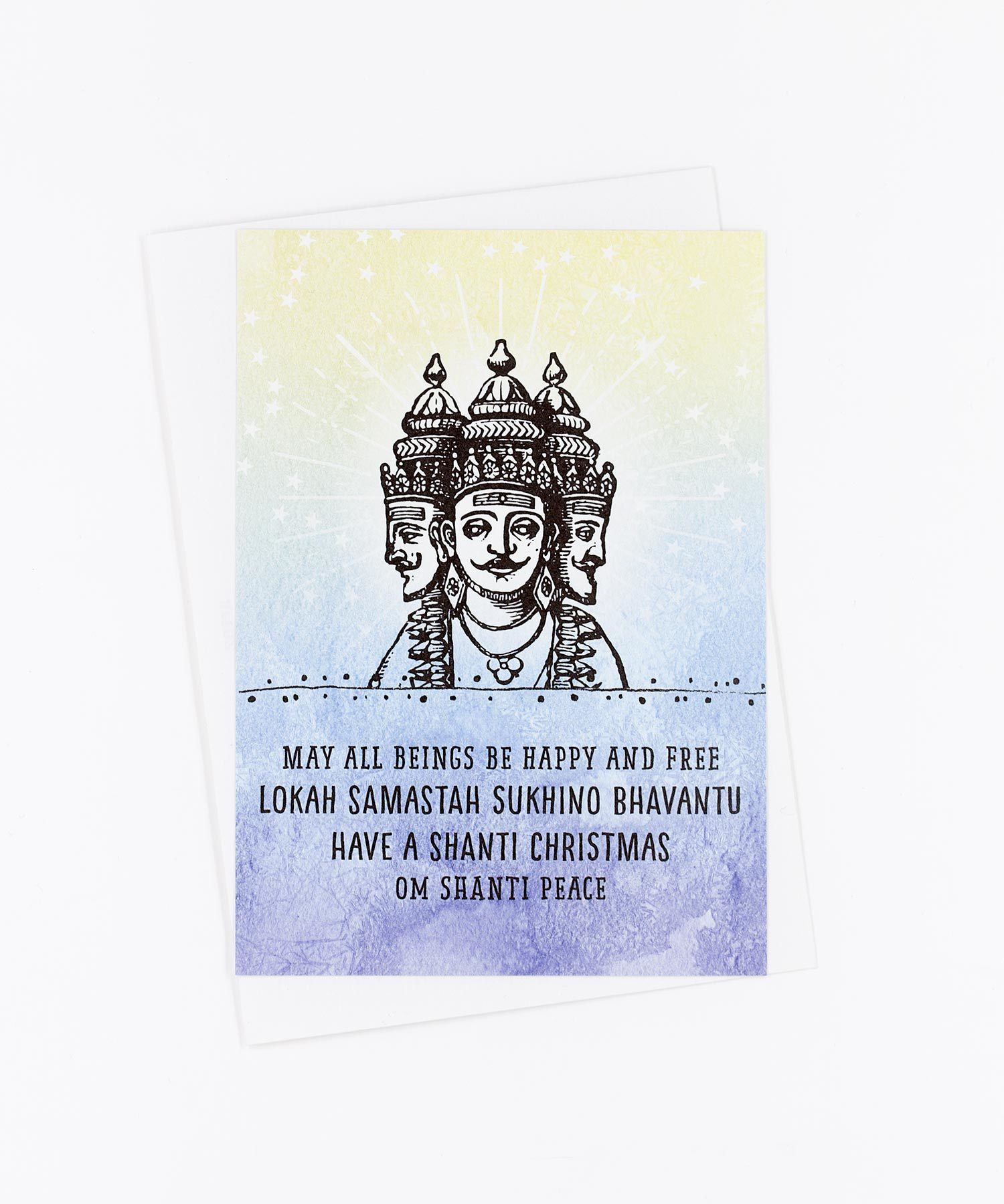 Weihnachtskarte Brahma Shanti Christmas