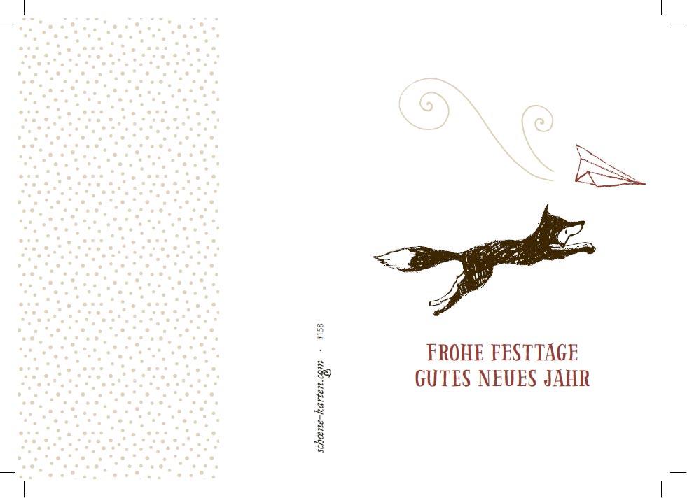 Weihnachtskarte Little Fox