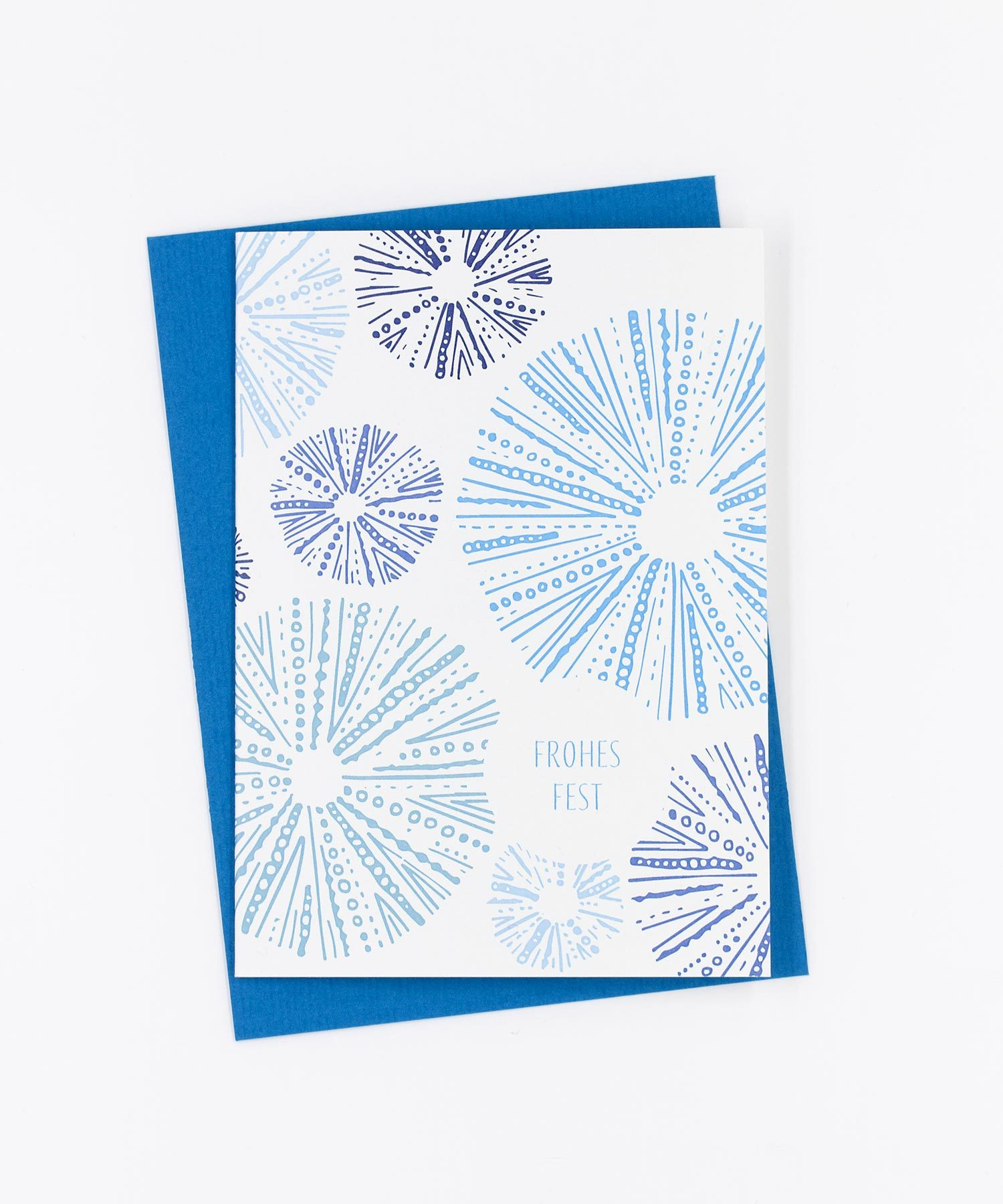 Weihnachtskarte Snowflakes