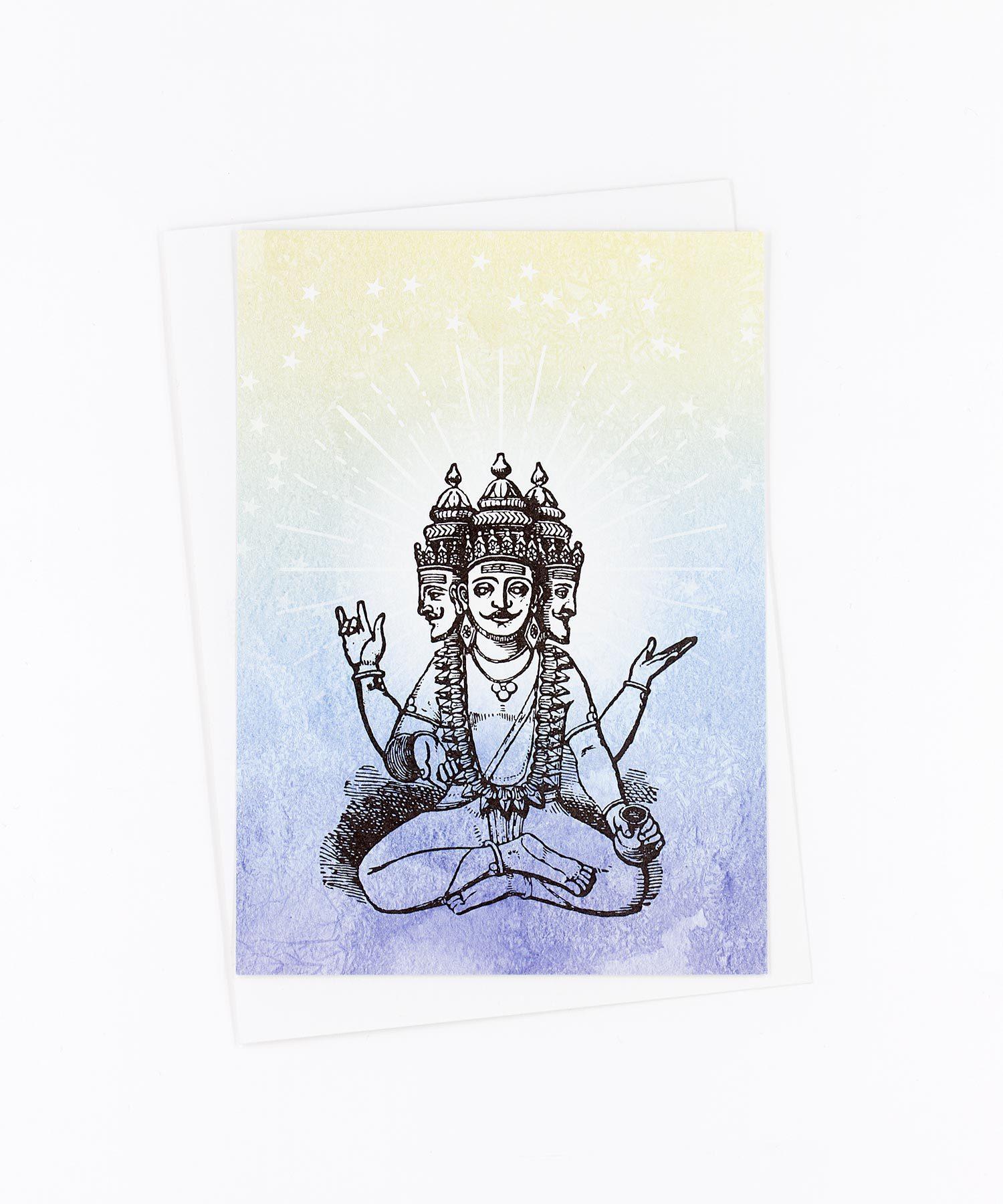 Yoga Postkarte Brahma