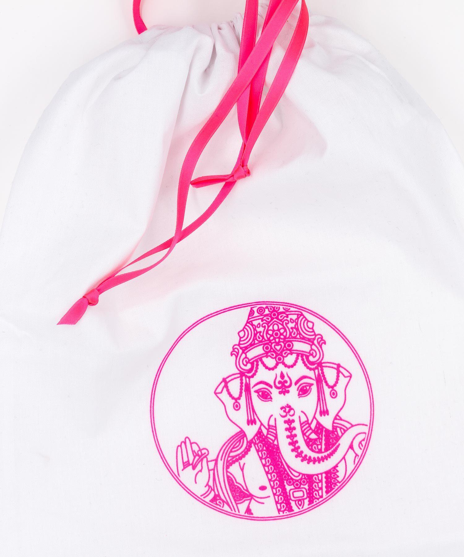 Ganesha Beutel neon pink